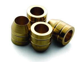 Втулка врезная, Brusso, K-2, D9.5*11.1 мм, латунь, 12 шт