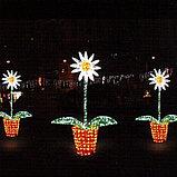 """Фигуры светящиеся светодиодные уличные акриловые 3D Цветок """"Ромашка"""", фото 3"""