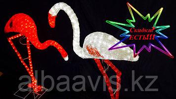 """Уличная фигура светящаяся светодиодная акриловая 3D """"Фламинго"""""""