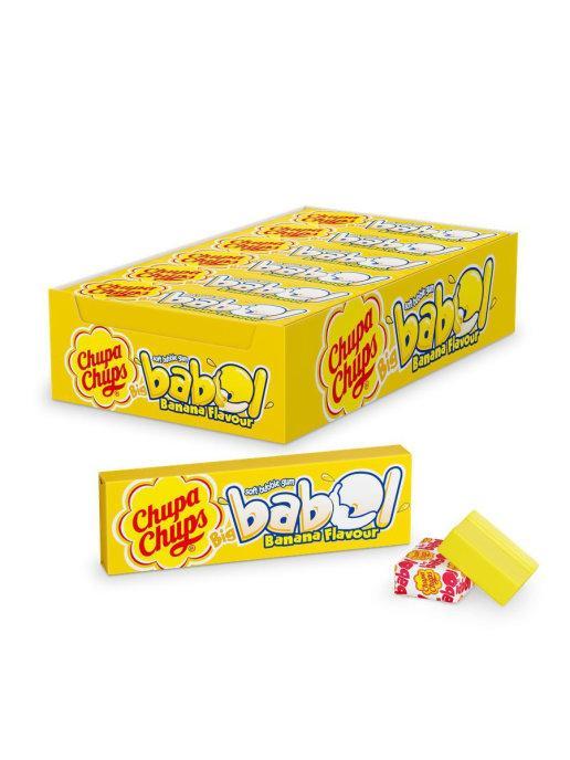 Жевательная резинка Chupa-Chups Big Babol Банан 21 гр. (24 шт в упаковке)