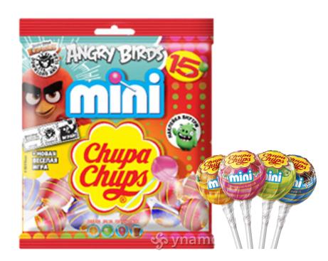 Карамель леденцовая Chupa-Chups Engry Birds 6 гр. (15 шт в упаковке)