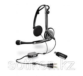 Наушники-гарнитура проводная Plantronics AUDIO 400 DSP, черный