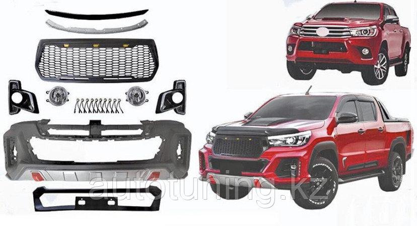 Эксклюзивный Фэйслифт (передний тюнинг бампер) на Toyota Hilux Revo 2016+