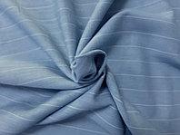 Ткань Хлопок+Лён Голубой