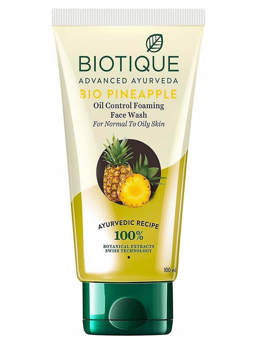 Гель для умывания с ананасом, Biotique, 100 мл,  для жирной и нормальной кожи