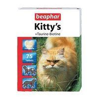 Витамины Beaphar 'Kitty's' для кошек, тауринбиотин, 75 шт (комплект из 4 шт.)