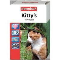 Витамины Beaphar 'Kitty's' для кошек, протеин, 180 шт (комплект из 2 шт.)