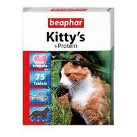 Витамины Beaphar 'Kitty's' для кошек, протеин, 75 шт (комплект из 4 шт.)