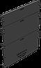 Торцевая заглушка для лотка водоотводного Gidrolica Standart DN150 - пластиковая