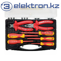 Набор: Губцевый инструмент, диэлектрический, высоковольтный до ~1000В, 7 предметов, ЗУБР 2214-H7_z01