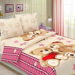 """Детское постельное бельё """"Тедди"""", размер Ясельки"""