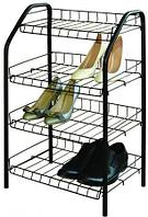 Этажерка для обуви Ника эт2/ч полка для обуви 70 x 46,5 x 30 см, 4 полки
