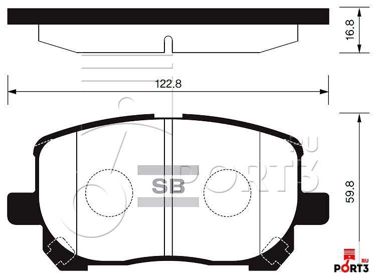 Колодки передние Toyota Avensis Verso 01-09