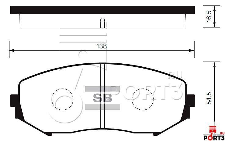 Колодки передние Suzuki Grand Vitara >05
