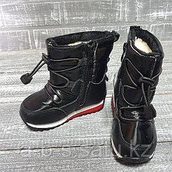 Аляски со шнуровкой,лаковая болонь,сбоку на замочке