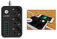 Сетевой фильтр LDNIO SE3631, 3 розетки, 1.6 м, с/з, фото 3