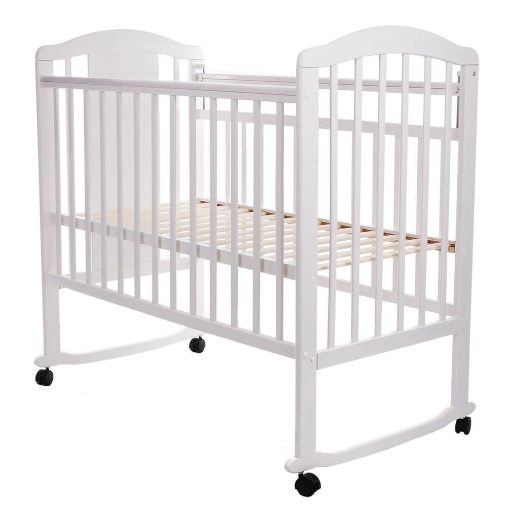 Детская кроватка Pituso Noli колесо-качалка Жираф Белый