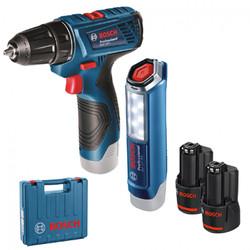 Аккумуляторный шуруповерт GSR 120 Li с фонари, BOSCH / BOSCH, Cordless screwdriver GSR 120-Li with f - фото 1