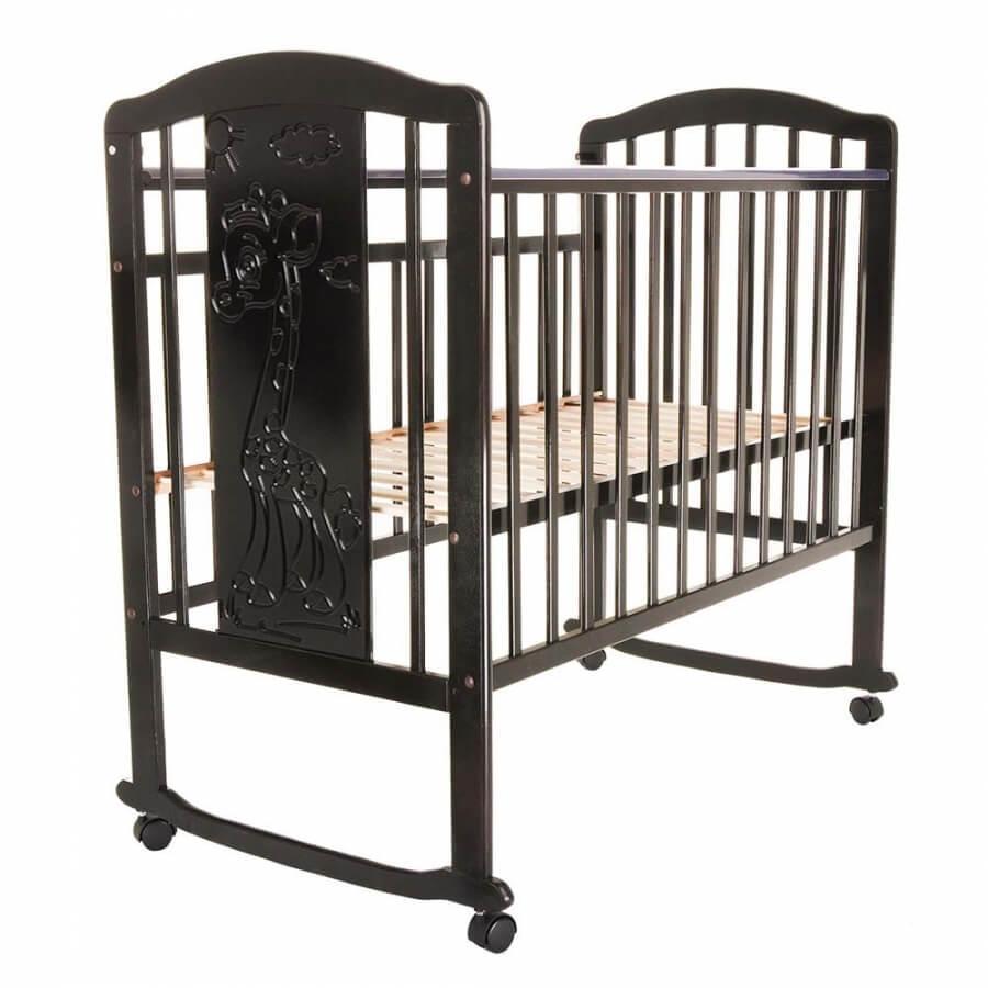 Детская кроватка Pituso Noli колесо-качалка Жирафик Венге
