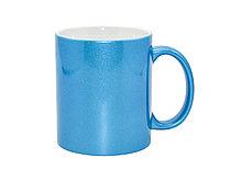 Кружка перламутровая (голубая) под сублимацию