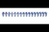 "Переплетная пружина QP 3:1 A4 size 3/8"" (9,5мм/65, 100шт, металл, Blue)"