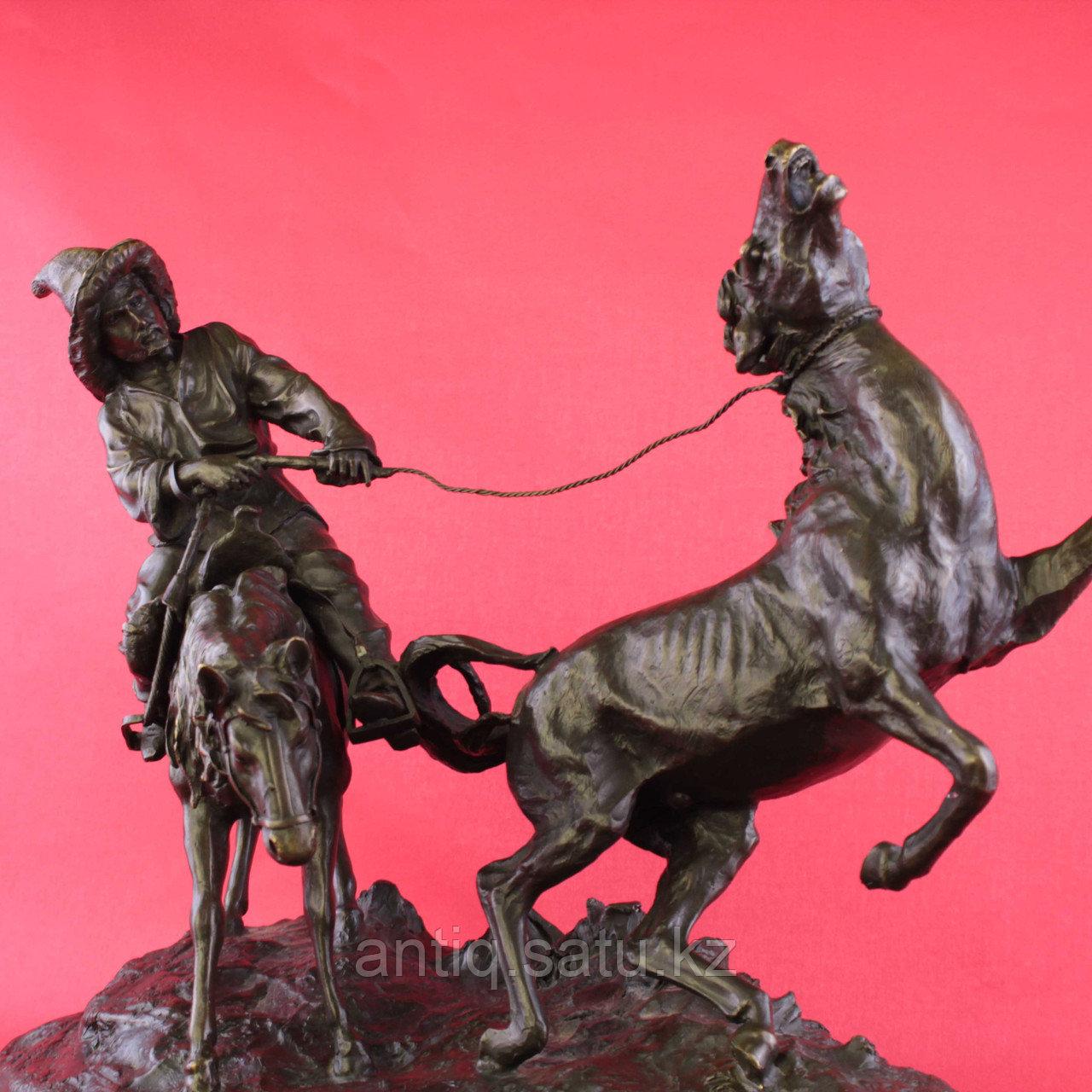 Скульптурная композиция «Ловля дикой лошади» По модели Е.А. Лансере (1848-1886) - фото 3
