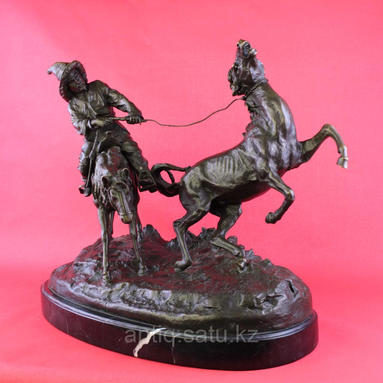 Скульптурная композиция «Ловля дикой лошади» По модели Е.А. Лансере (1848-1886) - фото 2