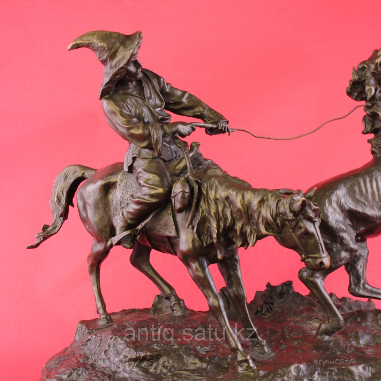 Скульптурная композиция «Ловля дикой лошади» По модели Е.А. Лансере (1848-1886) - фото 4