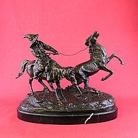Скульптурная композиция «Ловля дикой лошади» По модели Е.А. Лансере (1848-1886)
