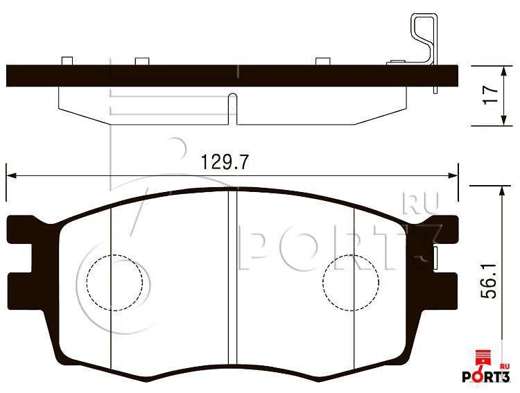 Колодки передние Hyundai Accent 05-10, Kia Pride >05