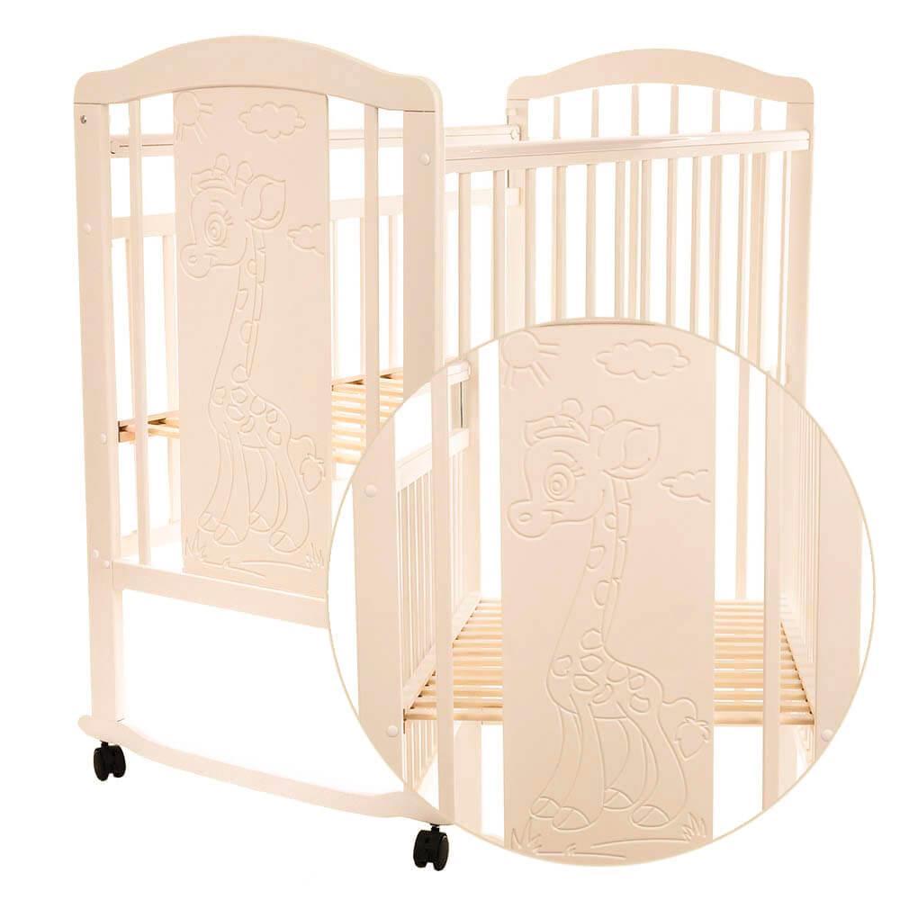 Детская кроватка Pituso Noli колесо-качалка Жирафик Слоновая кость
