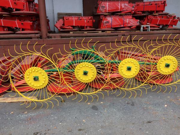 Грабли-ворошилки польские PZ-240 4х колесные 2,4м
