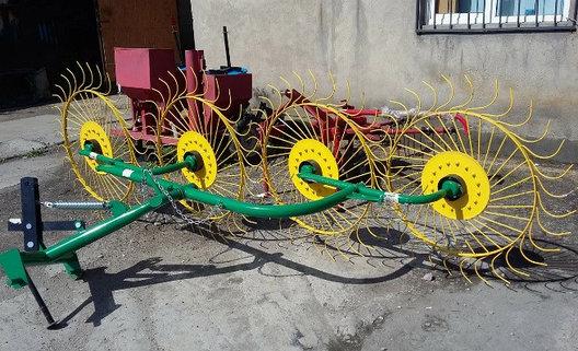 Грабли-ворошилки польские PZ-240 4х колесные 2,4м, фото 2