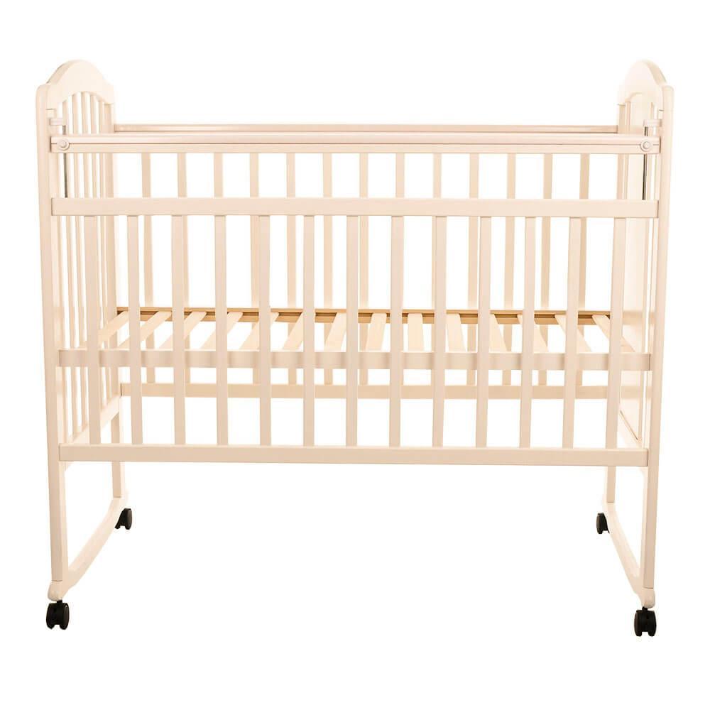 Детская кроватка Pituso Noli колесо-качалка Мишутка Слоновая кость