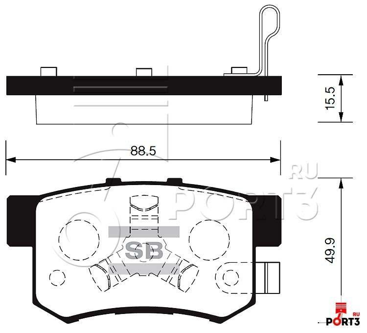 Колодки задние Honda CR-V 02-06, FR-V >05, Accord (AUT) >08