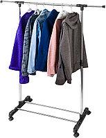 Вешалка для одежды напольная гардеробная телескопическая 1 перекладина  845х420х 96-160см