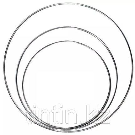 Гимнастический обруч 80 см, 570 грамм, стальной, фото 2