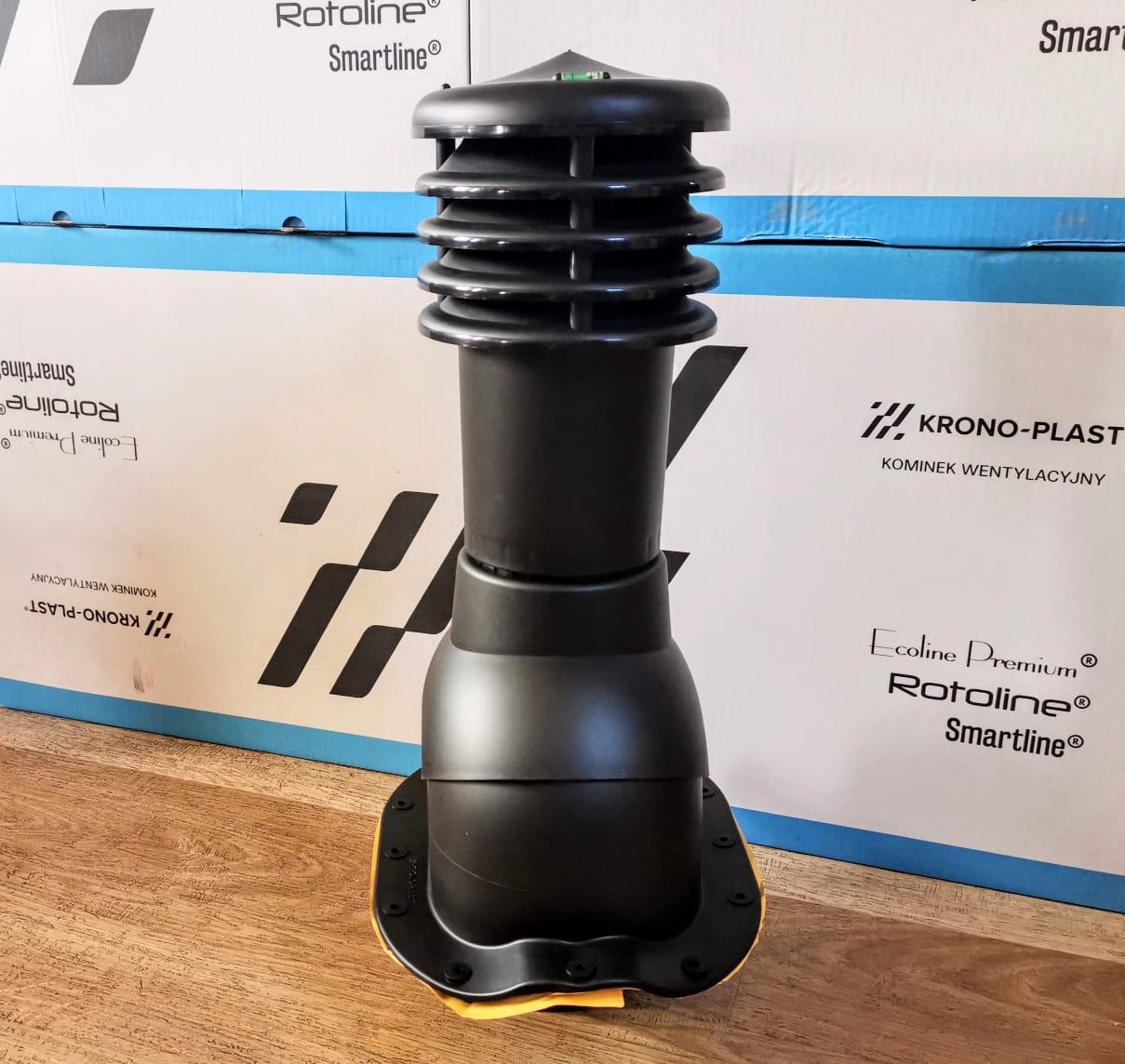 Вентиляционный выход для профиля VENEZIA KBF-125 Черный