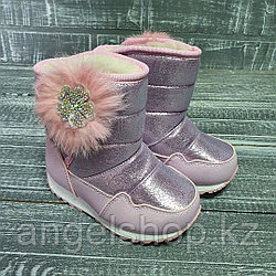 Аляски розовые сбоку мех
