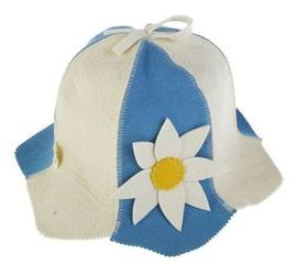 """Шляпка-колокольчик """"Цветы"""" (голубой)"""
