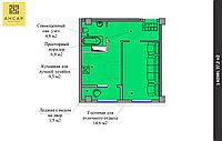1 комнатная квартира 37.2 м², фото 1
