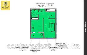 1 комнатная квартира 40.4 м²