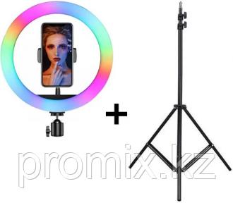 Кольцевая лампа 33 см с RGB режимами (мультиколор)