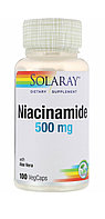Ниацинамид Витамин В3 Никотинамид. Niacinamide 500 мг. 100 капсул.