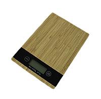 Весы парикмахерские электронные для краски # 9-55 из бамбука квадратные (1 гр-5 кг) №102054(2)