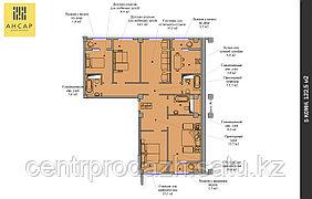 5 комнатная квартира 122.5 м²