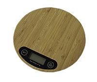 Весы парикмахерские электронные для краски # 9-55 из бамбука круглые (1 гр-5 кг) №41324