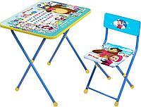 Набор мебели Ника Маша и Медведь стол +мягкий моющийся стул Азбука 2