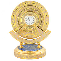 """Подарочные часы """"Вечный календарь"""" из камня лазурит Златоуст"""