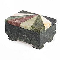 Шкатулка с мозаикой 12х8,5х6,5 см